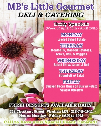Fresh Desserts Available Daily