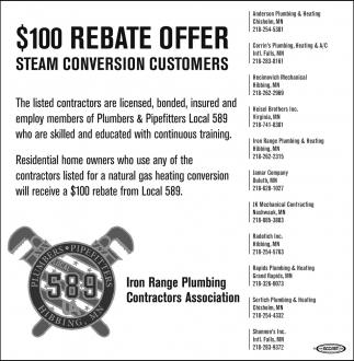 $100 Rebate Offer