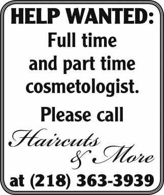Help Wanted Haircuts And More