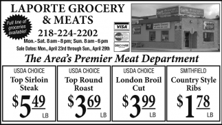 The Area's Premier Meat Department