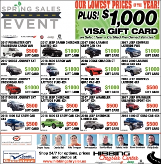 Springs Sales Event