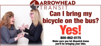 Can I Bring My Bicycle On The Bus? Yes!
