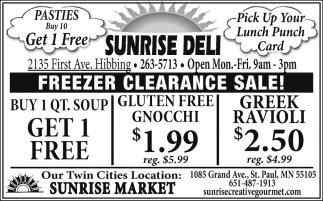 Freeer Clearance Sale!