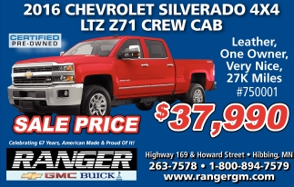 2016 Chevrolet Silverado 4x4