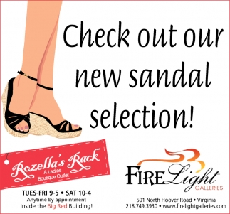 Check Out Our New Sandal Selection!