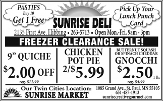 Freezer Clearance Sale!