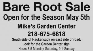 Wonderful Ads For Mikeu0027s Garden Center In Hackensack, MN
