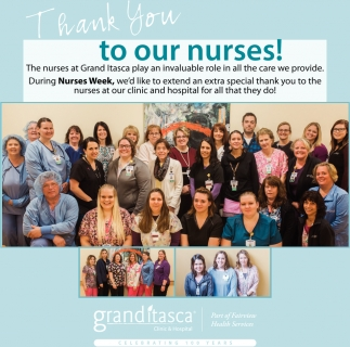 Thank You To Our Nurses!