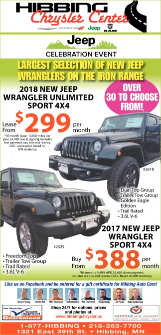 Largest Selection Of New Jeep Wranglers