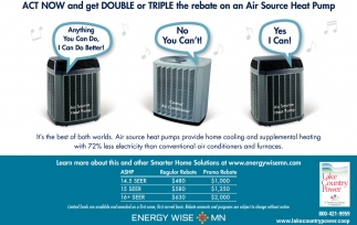 Act Now And Get Double Or Triple The Rebate On An Air Source Heat Pump