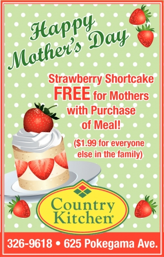 Happy Mother\'s Day, Country Kitchen , Grand Rapids, MN
