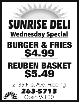 Wednesday Special!