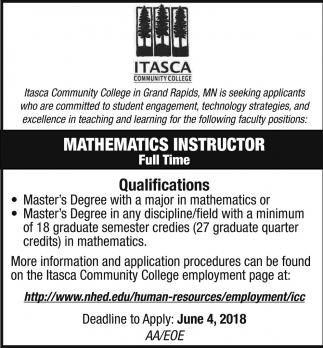Mathematics Instructor