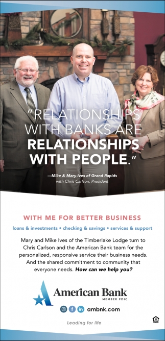 Relationship With Banks Are Relationships With People