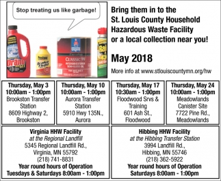 Area Solid Waste Facility Site Hours