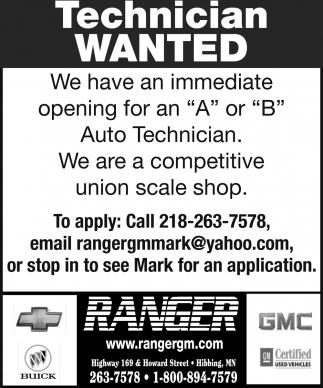 Technician Wanted