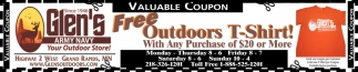 Free Outdoors T-Shirt!