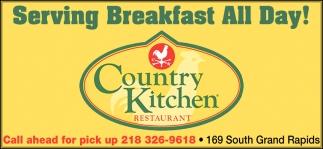 Serving Breakfast All Day!, Country Kitchen Restaurant ...