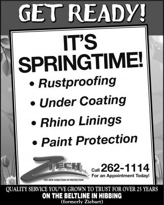Get Ready! Its Springtime!