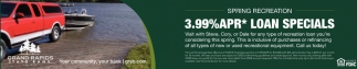 3.99% APR* Loan Specials